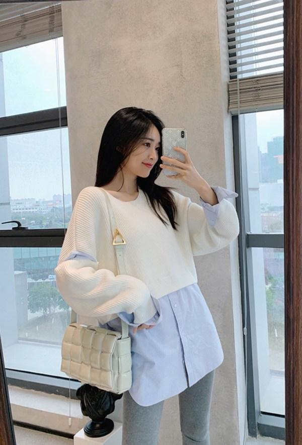 Two Piece Overlaying Sweatshirt | Nayeon – Twice