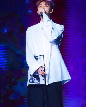 Classic White Shirt With Polaroid Photo   RM – BTS