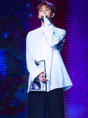 Classic White Shirt With Polaroid Photo | RM – BTS