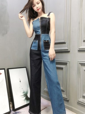 Sana Midnight And Royal Blue Block Jumpsuit 00007