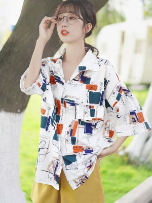 Abstract Flower Lines Shirt (1)