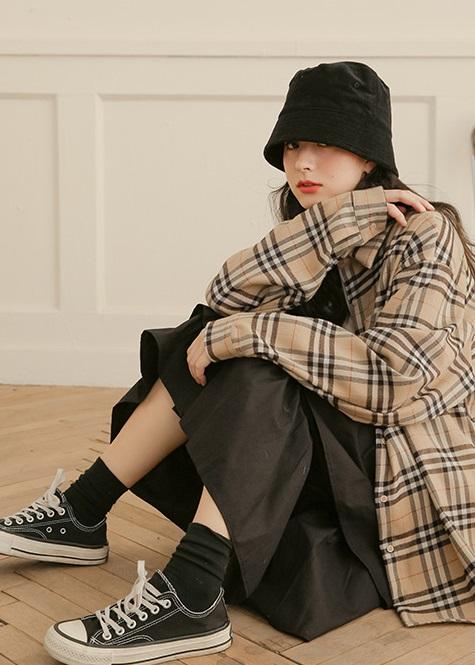 Long-Sleeve Cotton Shirt | Taehyung- BTS