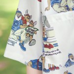 Beard Man And Two Mooses Print Shirt