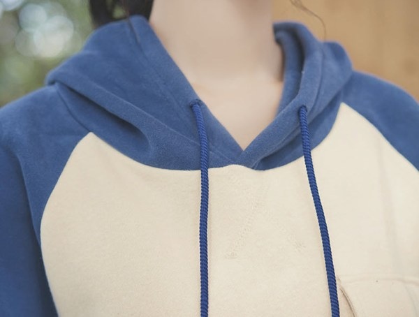 Blue And Cream Hoodie
