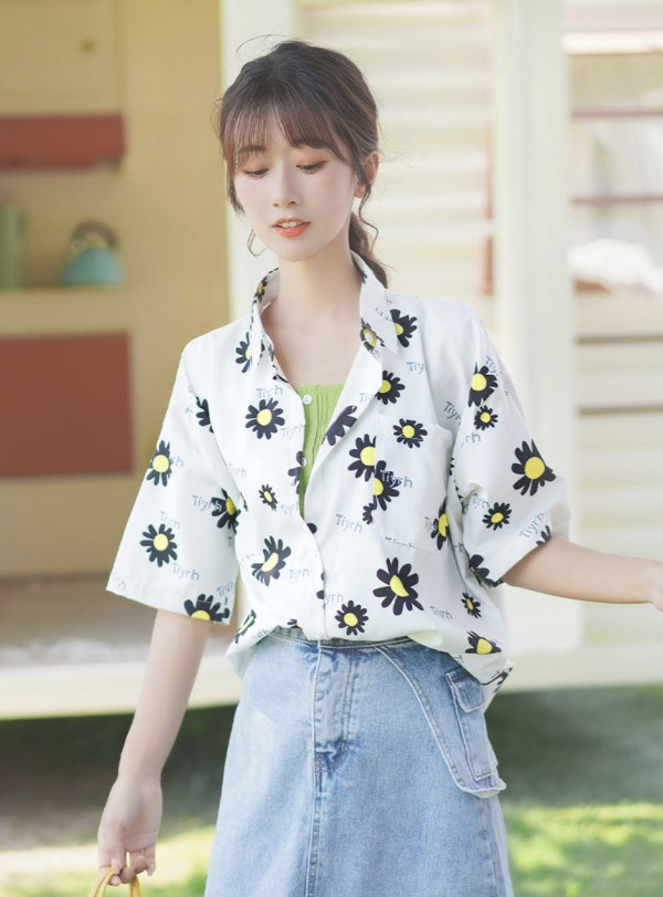 Daisy With Black Petals Shirt