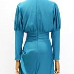 Persian Blue Slim Waist Turtle Neck Dress | IU – Hotel Del Luna