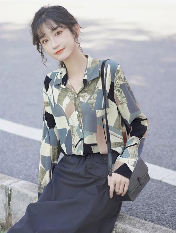 Irregular Multicolored Pattern Tiles Shirt