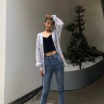 Tie Dye Lilac Ripped Designed Cardigan   Jennie – BlackPink