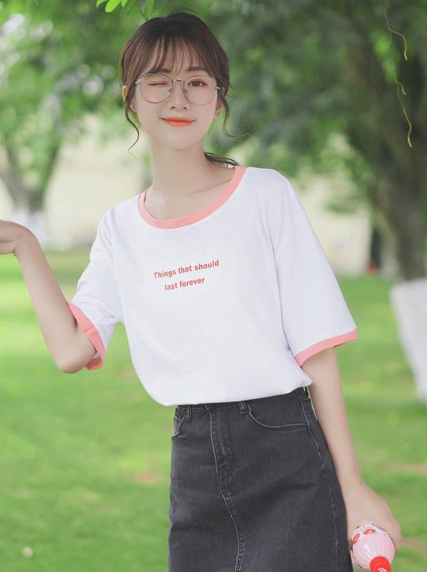 Last Forever Pink Outline T-Shirt