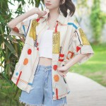 Multicolored Geometric Shapes Shirt