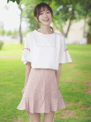 Never Sleep Ruffled Bell Sleeves T-Shirt (2)