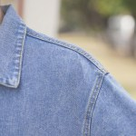 Polo Collar Blue Denim Jacket
