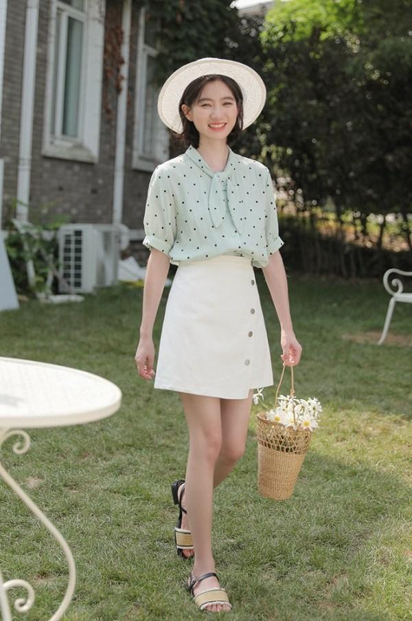 White Irregular A-Line Skirt   Rose – Blackpink
