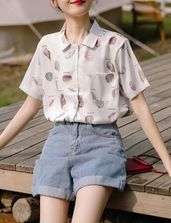 Sea Shells Print Shirt