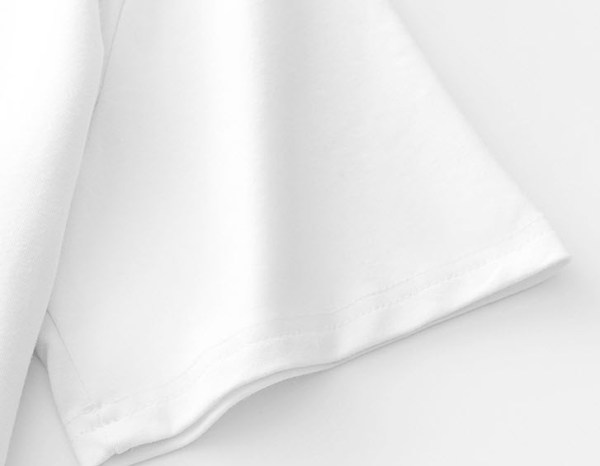 Square Neckline White T-Shirt