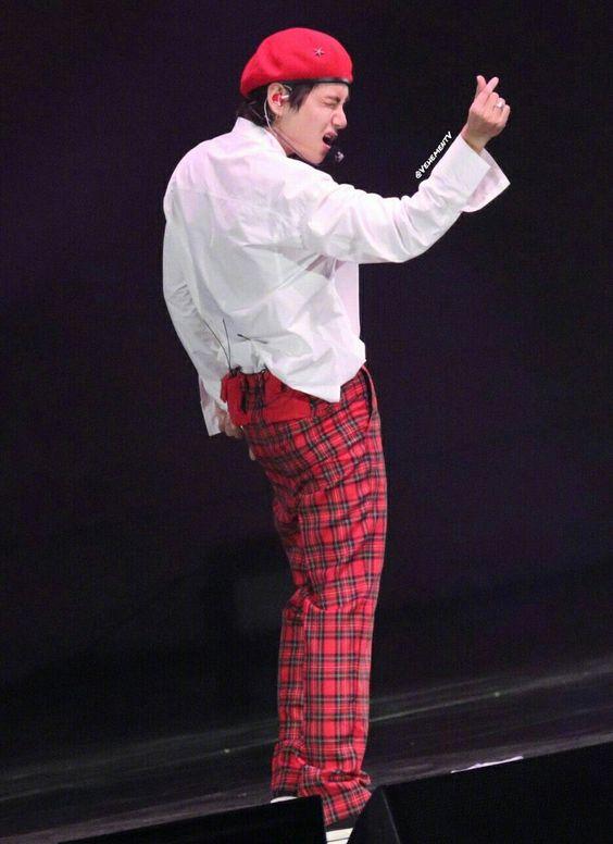Red High Waist Casual Pants   Taehyung- BTS