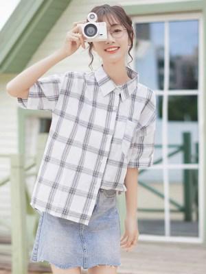 Thick Checkered Pattern Shirt