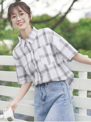 Thick Checkered Pattern Shirt (7)