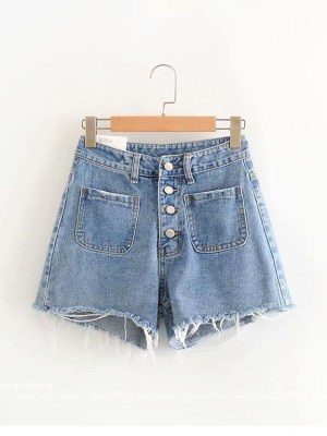 Tzuyu – Twice Wide Leg Denim Shorts (2)