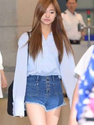 Wide Leg Denim Shorts | Tzuyu – Twice