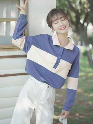 Blue And Cream Buttoned Sweater (5)