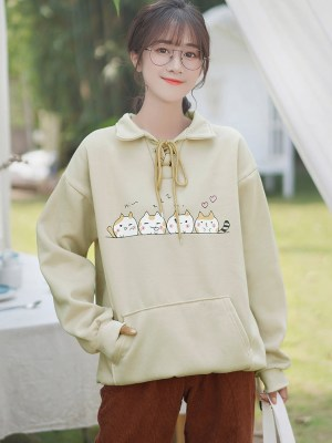 Cute Cats Yellowish Sweater (9)