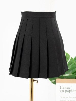 Hyuna Black Pleated Skirt (5)
