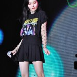 Black Rock Band Print T-Shirt | Hyuna