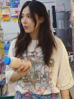Fairytale Carousel Print White T-Shirt | Hyuna