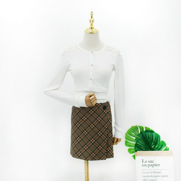 White Lace Stitching Cardigan | Hyuna