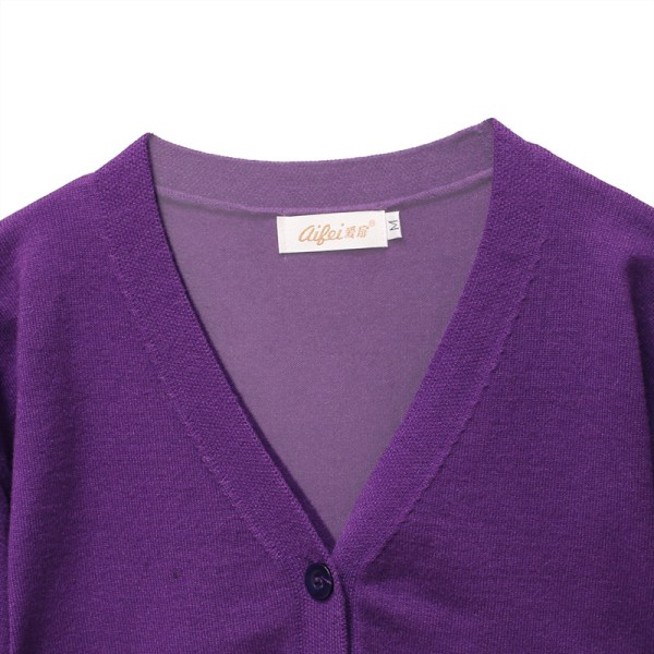 Purple V-Neck Cardigan | IU