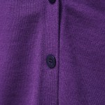 Purple V-Neck Cardigan   IU