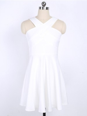 IU – White Cross Neck Dress (17)