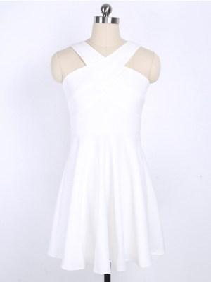 IU – White Cross Neck Dress (17)