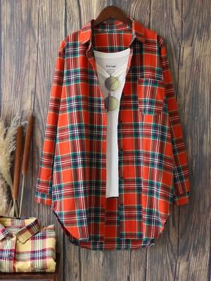 Irene- Red Velvet Casual Plaid Shirt (14)