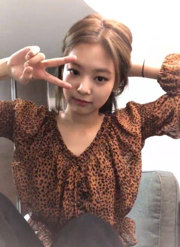 Leopard Print Ruffled Chiffon Shirt | Jennie – BlackPink