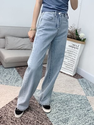 Jisoo – Blackpink Wide-Leg Denim Jeans (1)