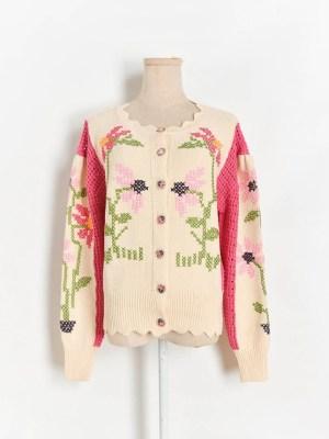 Joy Flower Designed Knit Cardigan (3)