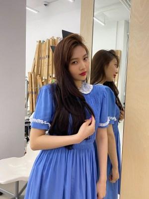 Blue Doll Collared Dress | Joy – Red Velvet