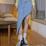 Assymetrical Cut Fishtail Skirt | Miyeon – (G)I-DLE