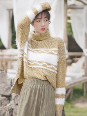 Orange Gold Knitted Sweater (3)