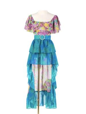 Rose – Blackpink Floral Irregular Ruffled Dress (5)