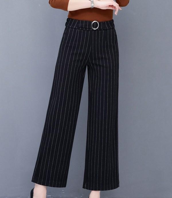 Striped Wide-Leg Pants | Rose – Blackpink