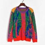 Multicolored Wool Sweater   Sehun-EXO
