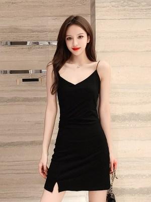 Solar- Mamamoo Black V-Neck Mini Dress (5)