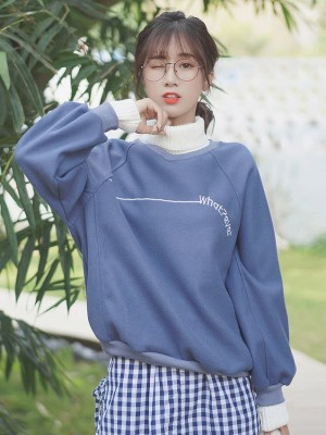 Whatever Turtleneck Blue Sweater (2)