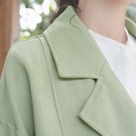 Green Double Breasted British Style Jacket