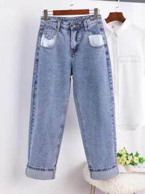 Hwasa Wide-Leg Denim Jeans (3)