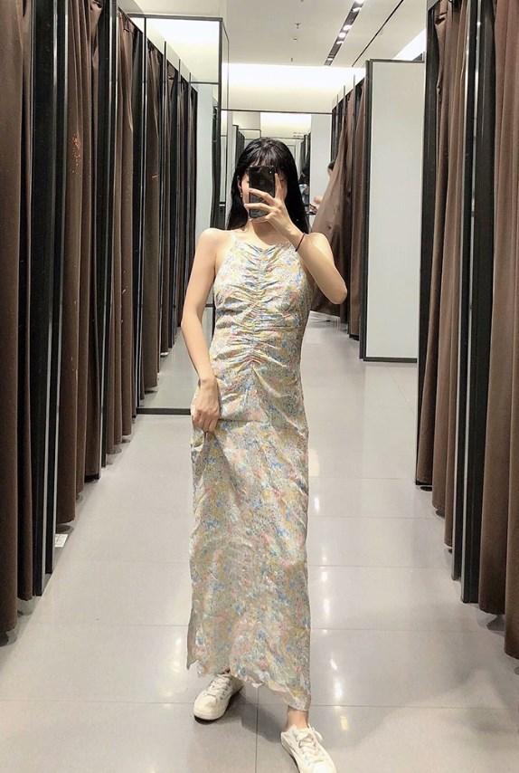 Floral Sleeveless Long Dress | Hyuna