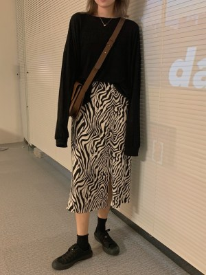 Hyuna – Zebra Patterned Skirt (3)